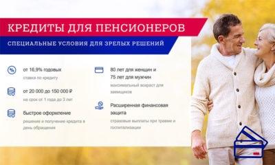 Почта Банк России предлагает очень интересные условия на кредиты для заемщиков пенсионного возраста, возраст ограничен 80ю и 75ю годами для женщин и для мужчин, соответственно